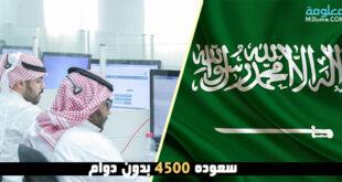 سعوده 4500 بدون دوام