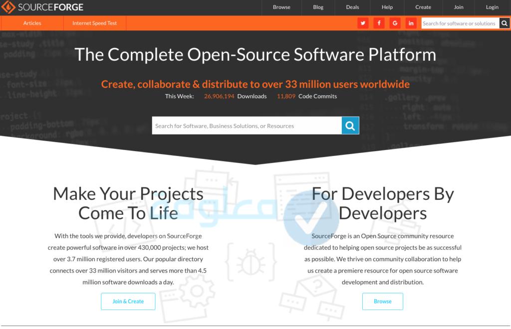 تحتوي هذه الصورة على سمة alt فارغة؛ اسم الملف هو SourceForge-1024x660.png
