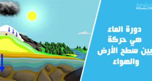 دورة الماء هي حركة الماء المستمرة بين سطح الأرض والهواء