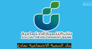 بنك التنمية الاجتماعية نماذج