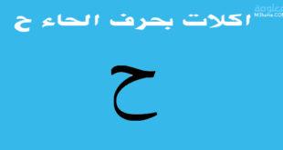 اكلات بحرف الحاء ح